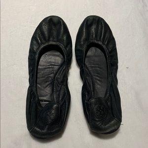 Tory Burch-black ballet slippers
